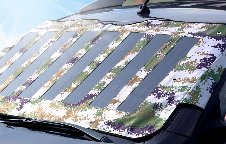 Sun protection with solar charger