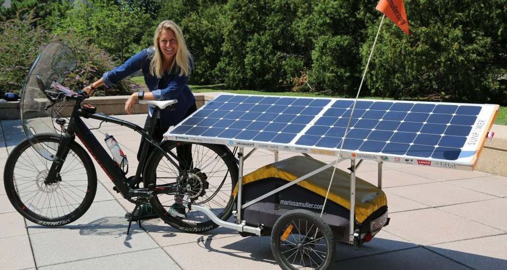 how does solar powered bike works
