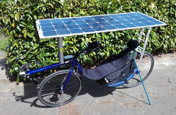 tricycle with solar panel